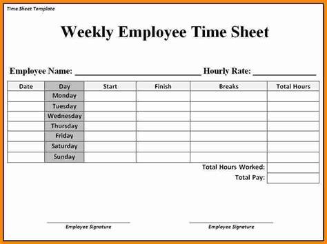 5 job timesheet template ledger paper