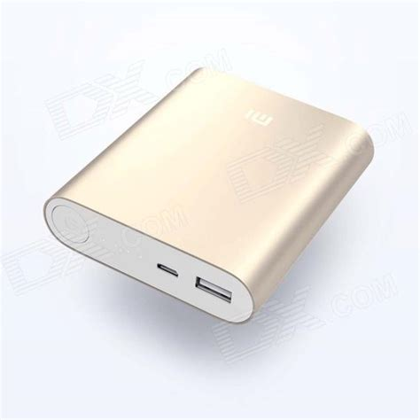 Li Usb Mobil xiaomi 10400mah li ion battery usb mobile power source