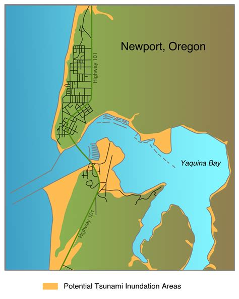map of oregon newport living with earthquakes in the pacific northwest