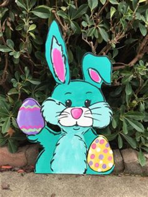 easter eggs outdoor wood yard lawn decoration