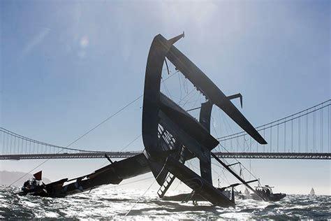 catamaran capsized australia oracle team usa capsizes its biggest baddest boat wired