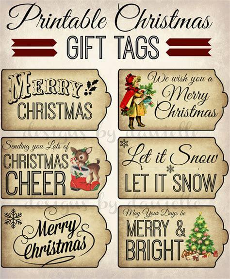 free printable retro christmas gift tags printable christmas tags instant download