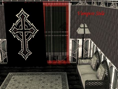 gothic style curtains mod the sims the victorian gothic curtains