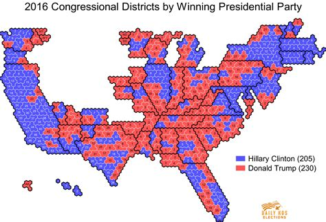 congressional districts map daily kos elections presents the 2016 presidential