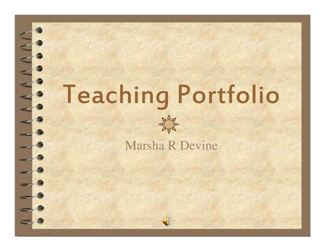 educational portfolio template teaching portfolio m 2008