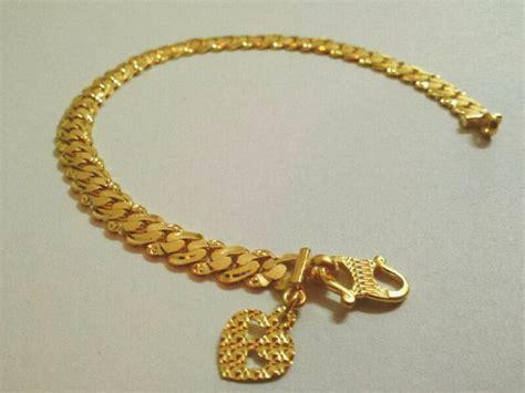 Gelang Batu Pasir Emas Lapisan Emas corat coret nusha rantai tangan emas 916 puteri padu
