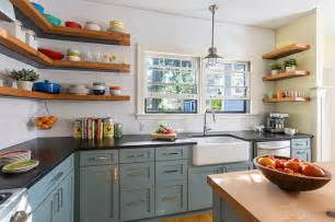Kitchen Shelf Design by Reclaimed Open Shelving Farmhouse Kitchen