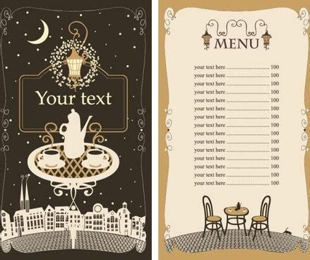 menu card templates cdr menu vector free vector 1 588 free vector for