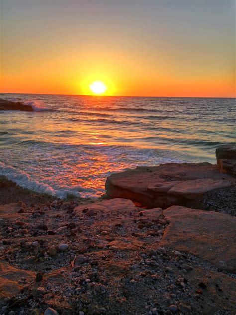 greece sunset beach waves wallpapers hd desktop