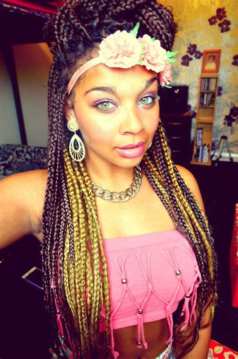 good braid color combos burgundy and blonde box braids hair next pinterest