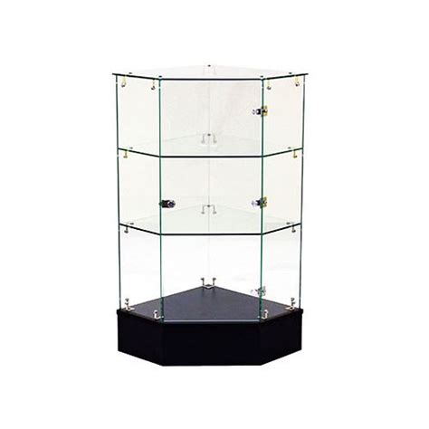 corner display cabinet glass frameless glass corner display cabinet with locking door