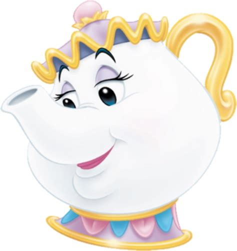 beauty and the beast pot mrs potts character comic vine