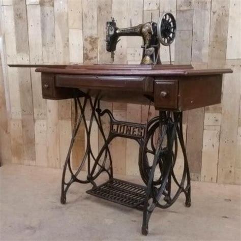 retro sewing machine table retro vintage jones sewing machine table cast iron