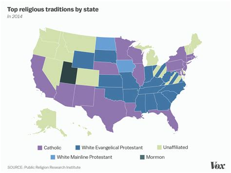 religion by state one nation under god mapped vox