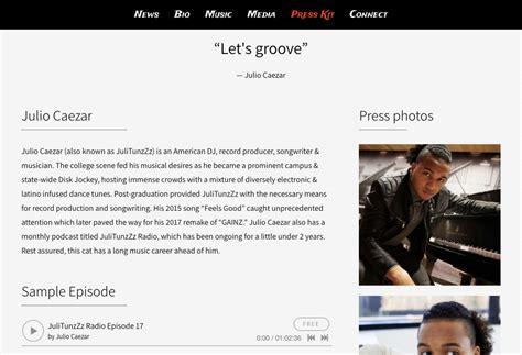 band bio template dj website design 1 template 3 ways