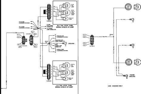 im   wiring diagram  tail lampbrake lamp circuits     pickup truck