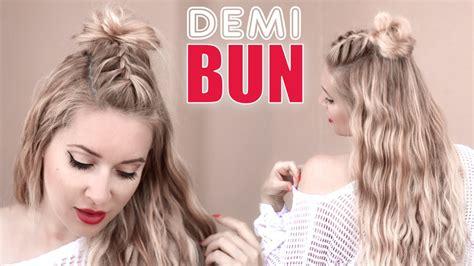 easy hairstyles for going out clubbing demi bun tress 233 pour la rentr 233 e tuto coiffure pour