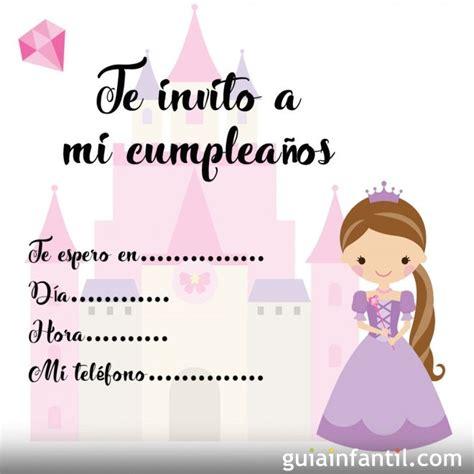 imagenes de invitaciones de cumpleaños bonitas invitaciones de cumplea 241 os con princesas para imprimir