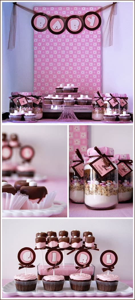 Brown And Pink Baby Shower pink and brown baby shower table ideas photograph half bak