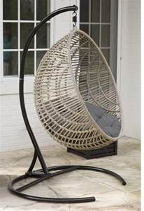Rattan Hanging Egg Chair Review Wicker Hanging Chair With Stand By Island Bay