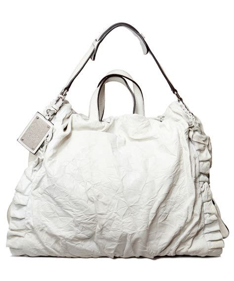 Dolce And Gabbana Miss Silky Hobo by Dolce Gabbana White Miss Rouche Hobo Artlistings