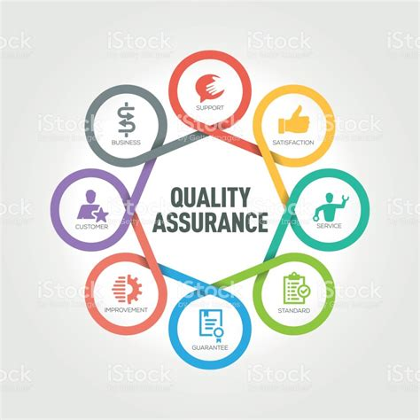 quality clipart quality assurance infographic with 8 steps parts options