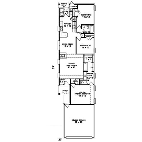 Skinny Houses Floor Plans by Hartford Hill Narrow Lot Home Plan 087d 1239 House Plans