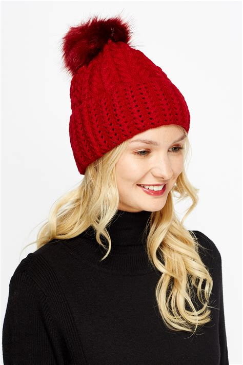 cable knit hat with pom cable knit pom pom beanie just 163 5