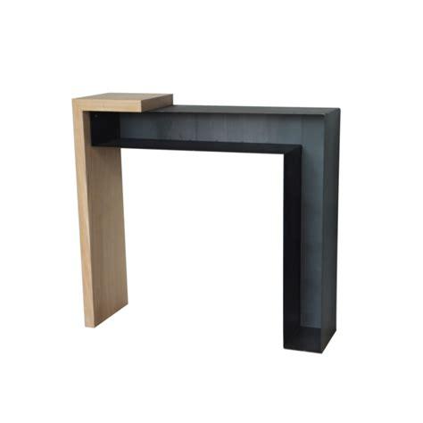console design metal console design bois et m 233 tal konnect atelier mobibois