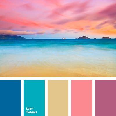sunset color scheme blue and sand color palette ideas