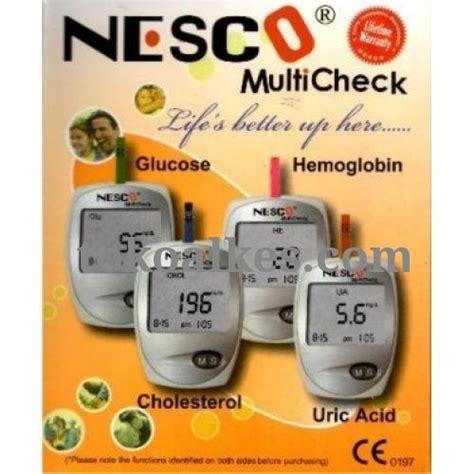 Alat Tes Gula Darah Merk Nesco nesco glucose cholesterol uric alat mesin gcu