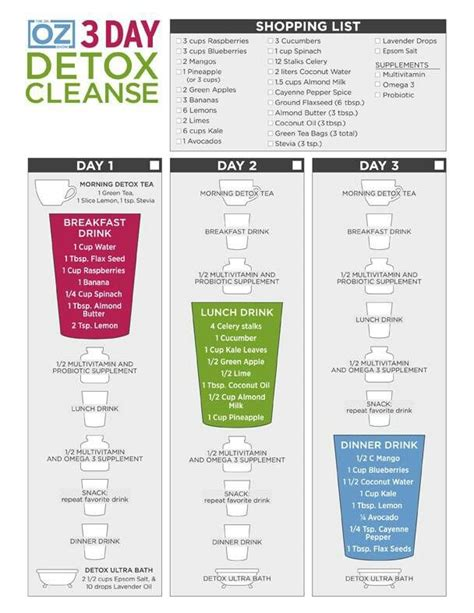 What Can I Drink To Detox My by 3 Day Detox Drink Cleanse Fitness Inspired