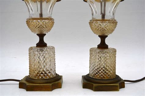 pair of crystal table ls pair of antique crystal table ls marylebone antiques