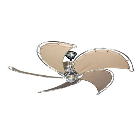 nautical ceiling fans gulf coast nautical raindance ceiling fan brushed nickel
