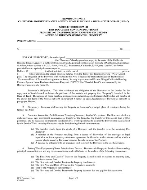 california promissory note template best photos of free california promissory note template