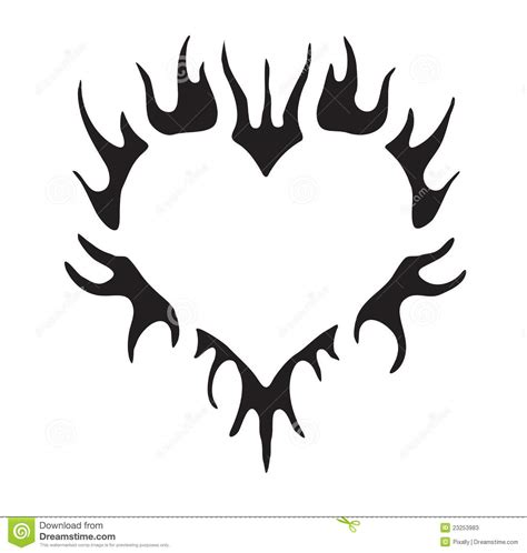 tribal pattern heart simple tribal vector heart stock vector illustration of