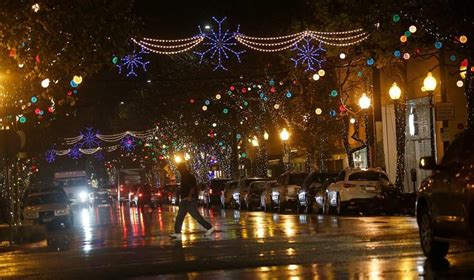 east bay christmas lights displays photos lights display on berkeley s fourth east bay times