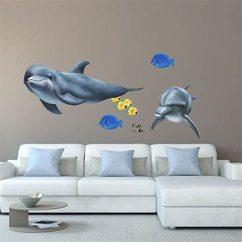dolphin wall stickers dolphin wall sticker see how you can create a
