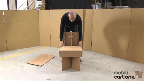 sedia di cartone istruzioni di montaggio sedia avana mobili di cartone