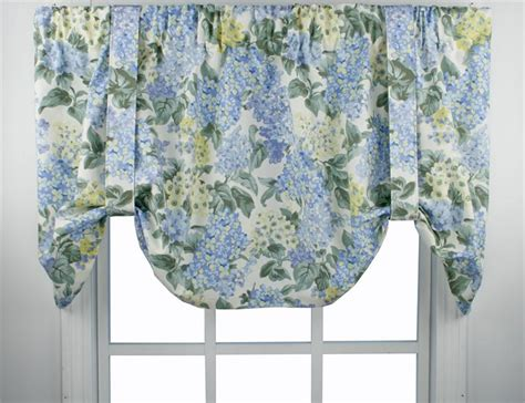 pattern for tie up valance hydrangea bloom tie up valance window treatments