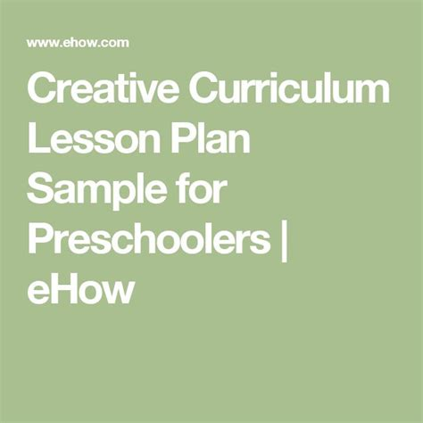 creative curriculum lesson plan template for preschoolers best 25 lesson plan sle ideas on pre k