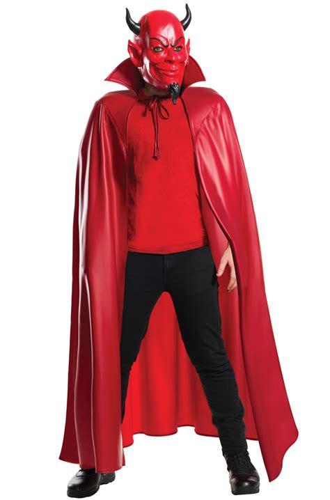 deluxe red devil mask  cape set purecostumescom