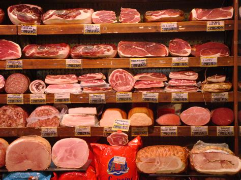 meat section in grocery store file grocery store in rome jpg wikimedia commons