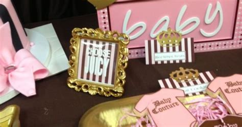 juicy couture baby shower decorations my creations juicy couture baby shower party ideas pinterest baby