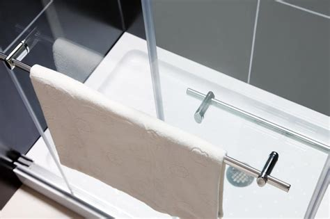 Towel Bar For Glass Shower Door Duet Bypass Sliding Tub Door