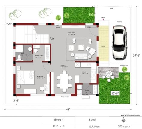 Indian House Plans For 1500 Square Feet | 1500 sq ft house plans india house floor plans