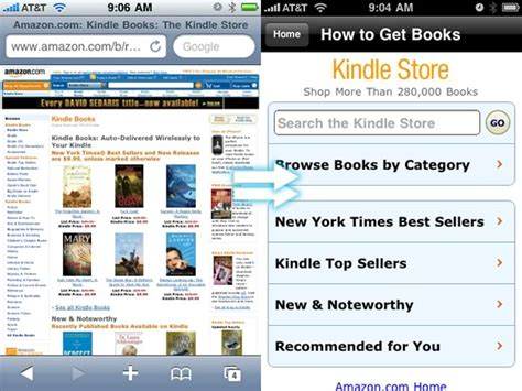 kindle mobile store s new iphone friendly kindle store takes some of
