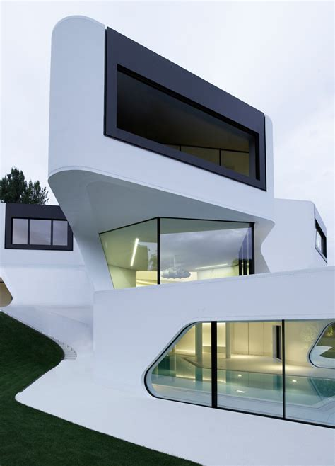 modern architecture house futuristic and modern dupli casa by j mayer h architects