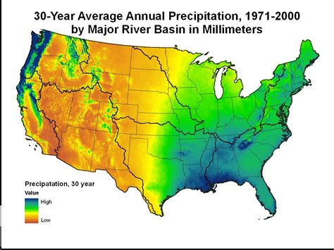 map us rainfall precipitation map of the united states thefreebiedepot