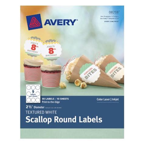 avery printable tags with strings scallop avery textured scallop round labels white 2 5 inch